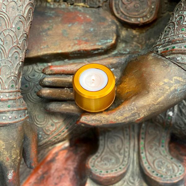 Halo-mini-urn-gold